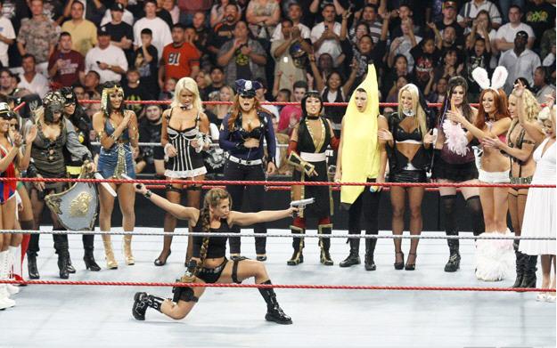 WWE Diva Halloween Costume Contest - Mickey James as Lara Croft wins