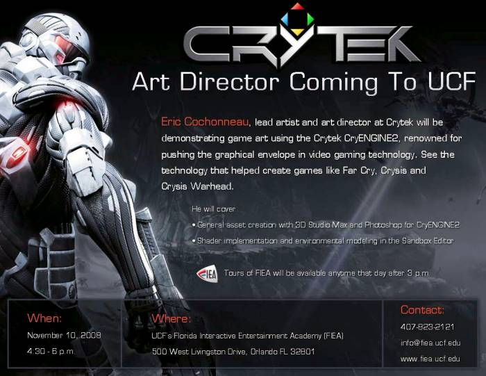 Crytek's Eric Cochonneau @ FIEA