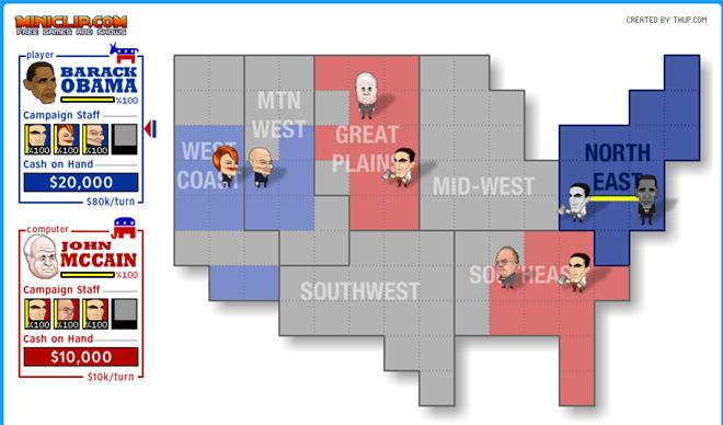 MiniClip  McCain vs  ObamaObama Playing Xbox