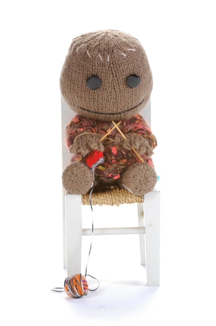 A pic of Simply Knitting's take on Sackboy