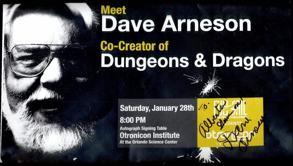 Poster: Dave Arneson @ OTRONICON 2006