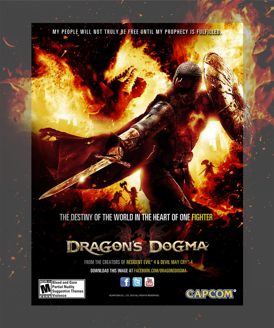"Capcom: ""Dragon's Dogma"" - 'Fighter' Key Art"